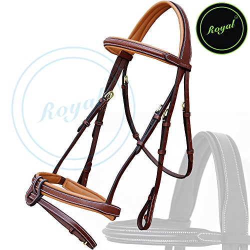royal-full-padded-anatomic-head-piece-bridle-with-u-shaped-detachable-flash-reins-vegetable-tanned-l