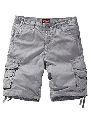 Match Herren Cargo Shorts #S3612(3058 Silber grau,S)
