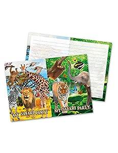 Folat Nuevo Tarjetas de invitación Safari Party, 8Unidades