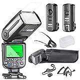 Neewer® Profi i-TTL-Kamera Slave Kamerablitz Set für NIKON D7100 D7000 D5300 D5200 D5100 D5000 D3200 D3100 D3300 D90 D800 D700 D300 D610 D300S, D3S D3X Inklusive D3 D4 D600 D200 DSLR Kamera-: Neewer Blitz mit Auto-Focus + 2.4Ghz Wireless-Auslöser + N1 Kabel & N3 Kabel + Hart & Weich Blitz Diffusoren + Objektivdeckelhalter