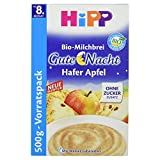 Hipp Gute Nacht Bio Milchbrei Hafer Apfel, Vorratspack, 500 g