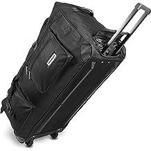 XXL Reisetasche mit Trolleyfunktion mit Rollen und Verstärkungsstreben