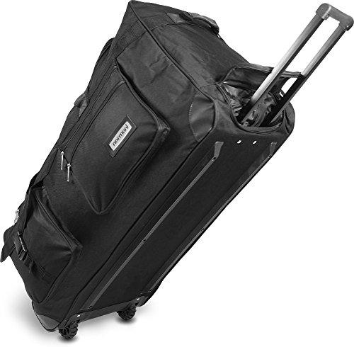 Mit Rädern Trolley Tasche (normani Leichte XXL Reisetasche Rollenreisetasche Trolley Sporttasche mit Rollen Farbe Schwarz / 80 Liter)