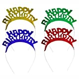 "Haarreifen farbig sortiert ""Happy Birthday"" 32 Stück"