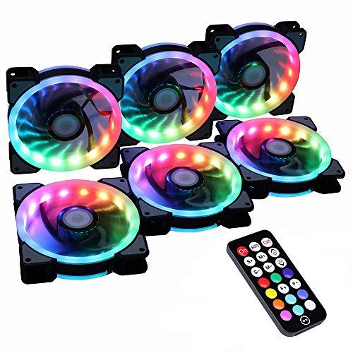 Miwatt RGB LED 120mm Lüfter, Mit...
