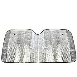 WeiMay auto parasole frontale universale pieghevole calore riflettente parabrezza visiera anteriore finestra UV Block per SUV, camion, 70* 140cm, colore: Argento