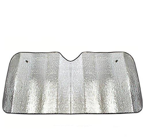 Fablcrew Pare-Brise Parasol de Pare-Brise Avant pour Voiture Double Face Aluminium Film Pare-Soleil Avant Argent 140 * 70CM