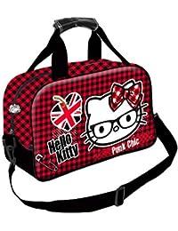 Karactermania Hello Kitty Vichy Bolsa de Deporte Infantil, 38 cm, Morado