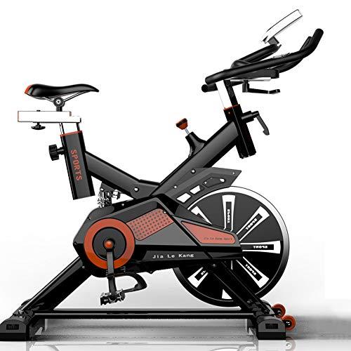 RISILAYS Profi Indoor Cycle Hometrainer,Armauflage,Pulsgurt kompatibel-Speedbike mit flüsterleisem Riemenantrieb-Fahrrad Ergometer bis 300Kg,Red