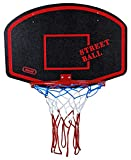 Basketballboard ABA Basketballkorb mit Netz Basketball Backboard für Kinder Basketballbrett inklusive Korb und Netz Basketballring Indoor (Streetball Rot)