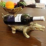 Yarmy Weinregal Kupfer Krokodil Weinregal Dekoration europäischen kreativen Luxus modernen minimalistischen Wohnzimmer Tisch Wein Kabinett Dekoratio