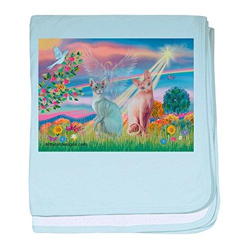 CafePress–Cloud Angel/Sphynx-Katze–Baby Decke, Super Weich Für Neugeborene Wickeldecke himmelblau