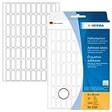 Herma 2320 Vielzwecketiketten (8 x 20 mm, Papier matt) 2.240 Aufkleber, 32 Blatt, weiß, selbstklebend, Handbeschriftung