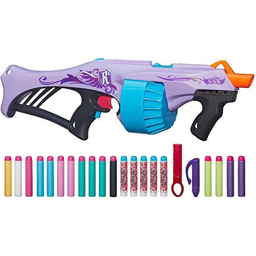 Nerf Rebelle Toy - Secrets & Spies - Fearless Fire Dart Blaster - Includes 20 Darts