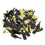 Homyl 15g/Sac Confettis de Dispersion Etincelant en Plastique Or Noir Bouteille Champagne Verre à Pied Décor Fête de Mariage - Diamètre 1cm