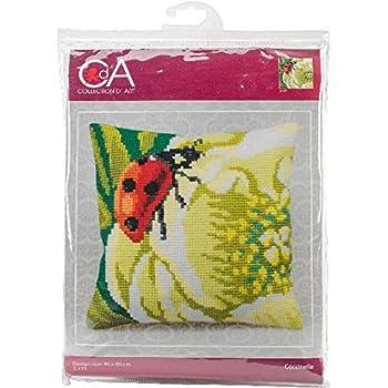 Collection D/'Art CD5105 Cardinal Rose Cross Stitch Cushion Front Kit