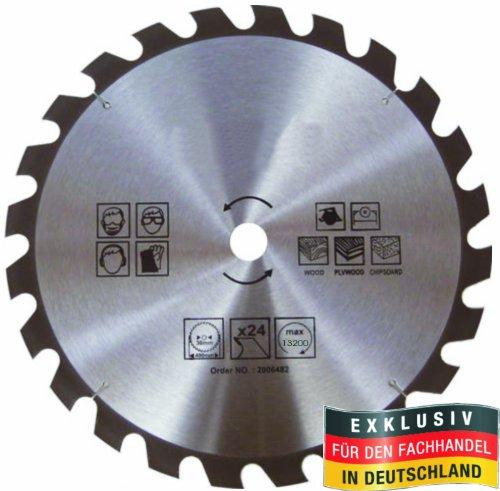 MASTERP Kreissägeblatt 100mm, 24 spezial gehärtete Zähne, für Holz, Handkreis und Tischkreissägen