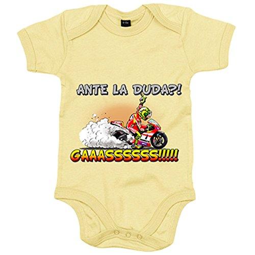 Body bebé para motero ante la duda gaaaaasss - Amarillo, 6-12 meses