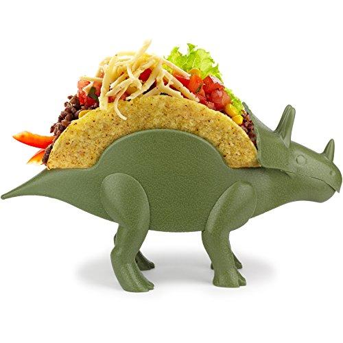 KidsFunwares tricerataco Taco Soporte-el Ultimate Taco Soporte para Taco Martes y Partes de Dinosaurio jurásico prehistóricos-sostiene 2Tacos niños y kidults Que Amor Dinosaurios