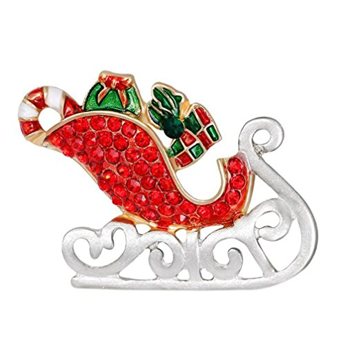 Hosaire 1X Fashion Personality Christmas Women's Brooch Pin Rhinestone Covered Scarves Shawl Clip For Women Ladies