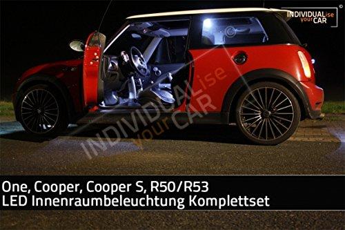 LED Innenraumbeleuchtung SET für MINI R50, R53, One, Cooper, Cooper-S - Cool-White (Cooper Beleuchtung)