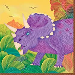 Servilletas fiesta Dinosaurios/Prehistoria - pack de 16