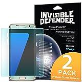 Pellicola Protettiva dello Schermo Samsung Galaxy S7 Edge - Invisible Defender [Piena Copertura][2-Pack] da Bordo a Bordo Lato Curvo Garantita [Custodia Compatibile] Super Sottile Chiarezza HD Film