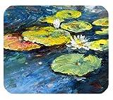 Coloré Belle Fantaisie De Charme Art Unique Mignon Fleur Eau Nymphaea Lotus Huile Aquarelle Peinture Rectangle Mousepad Personnaliser Mousepad