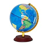 Melodycp World Globe for Gift Home Office Weltkarte Globe 25 cm Girlanden mit Stand Educational Gift