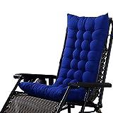 Hoomall Hochlehner Auflage Flair 120x48x8cm Sitzkissen Rückenkissen Sitzpolster Schaumflockenfüllung Blau