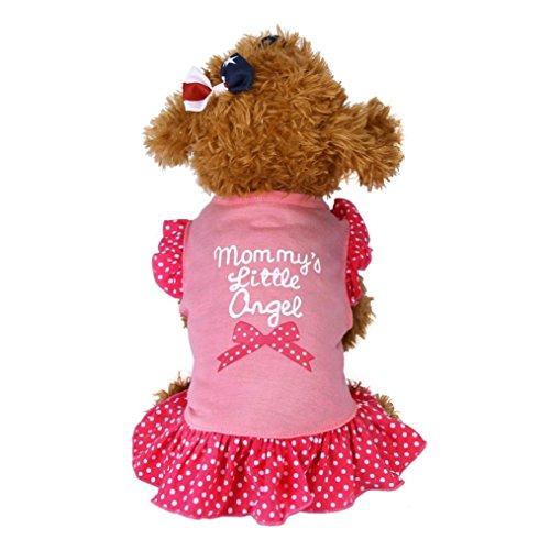 LHWY Nette Moderne Haustier Weste Kleider Hunde Rock T-Shirt Buchstabedruck Sleeveless Hemd für Kinderbetreuung Hunde Mädchen (L, Rosa)
