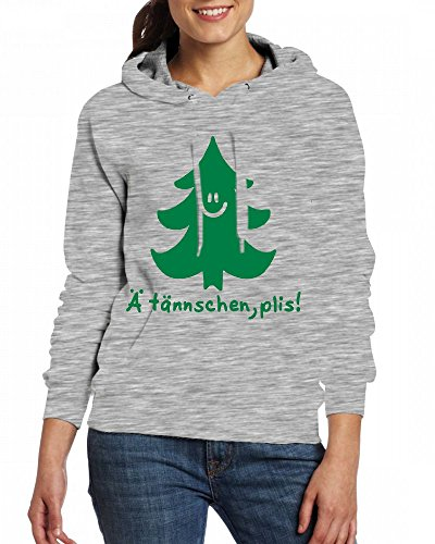 Custom Womens Hooded - Design Emjio tree Hoodies Grey