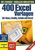 400 Excel Vorlagen Bild