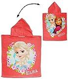 Unbekannt Badeponcho - Frozen - Disney die Eiskönigin - 50 cm * 115 cm - 4 bis 8 Jahre Poncho - mit Kapuze - Handtuch Strandtuch Baumwolle - völlig unverfroren Prin..