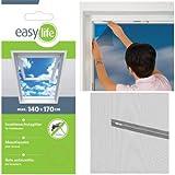 easy life Fliegengitter für Dachfenster 140 x 170 cm in anthrazit Eingriff mit Reißverschluss - auch in weiß wählbar