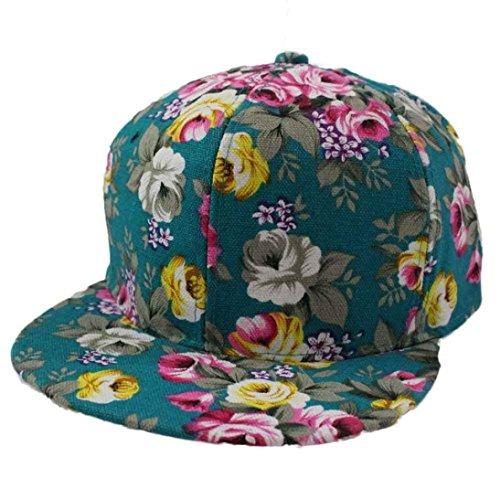 LeeY Baseball Caps, Unisex Rose Blume Hüfte Hop Baseball Sommer Deckel Hüte Für Männer Frauen Beiläufig Hüte Kappen Sport oder auf Reisen,Mützen für Draussen Unisex Hats Basecap (Grün) -