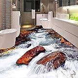 Benutzerdefinierte 3D Boden Tapete Badezimmer Wc Schlafzimmer PVC Boden Aufkleber Dekor Wasserdicht Selbstklebende Vinyl Tapeten Murals 3D 140cm(L) X100cm(W)
