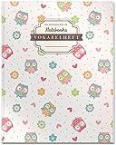 DÉKOKIND Vokabelheft   DIN A4, 84 Seiten, 2 Spalten, Register, Vintage Softcover   Dickes Vokabelbuch   Motiv: Lustige Eulen