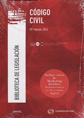 Código Civil (39 ed. - 2016) (Biblioteca de Legislación) por Aa.Vv.