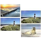 COM-FOUR 4x Platzset'Maritim' mit verschiedenen dekorativen Foto-Aufdrucken, 43,6x28,2cm (04 Stück - Maritim)