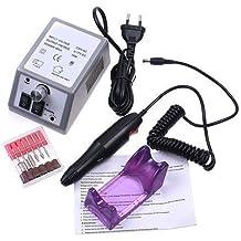 Crisnails ® Torno Pulidor Broca de Uñas para Manicura y Pedicura para todo tipo de uñas (Gris)