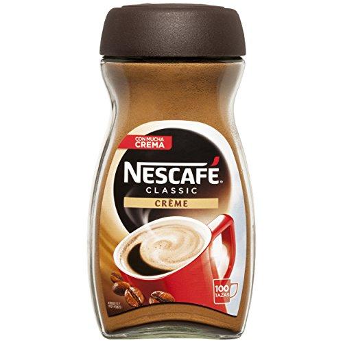 NESCAFÉ Café Classic Soluble Crème, Bote de cristal, Paquete de 6x200g de Café - Total: 1.2 kg