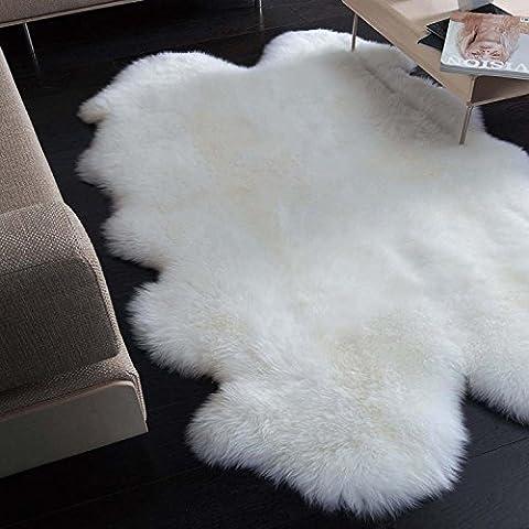 du vent 180x 110cm 100% en peau de mouton Quad Tapis