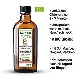 Hildegard von Bingen 100% natürliches Kräuter Bio Mundöl zum Ölziehen, 100ml, Ayurvedisches Mundziehöl als Mundwasser Ersatz
