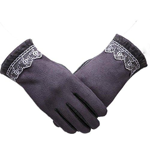 gants en dentelle ainsi que des gants de velours épais de sauvages mode femmes chaudes froides