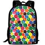best& Stylish The Very Hungry Caterpillar Abstract Dots Laptop Backpack School Backpack Bookbags College Bags Daypack