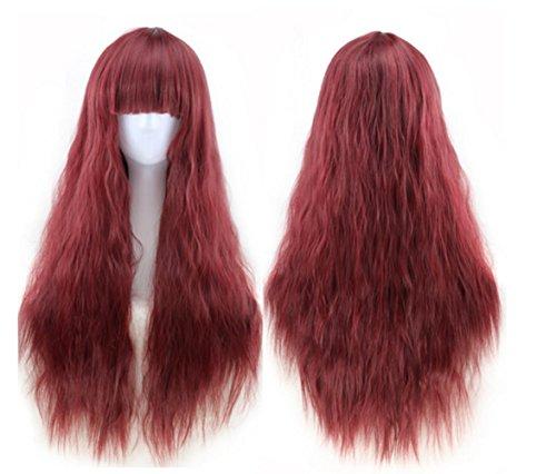 Photo Pal 65cm Cosplay Perruque Femme Longue Frisé Bouclé Cheveux Synthétiques Halloween Soirée