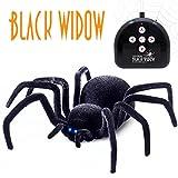 bescita Télécommande araignée jouet cadeau Halloween géant araignée latro dectus Noir Veuve