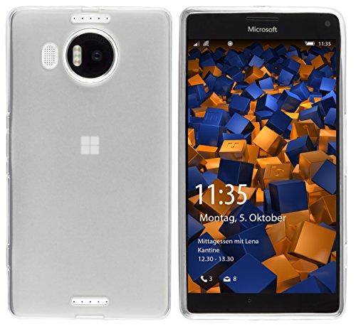 mumbi Schutzhülle für Microsoft Lumia 950 XL Hülle transparent weiss
