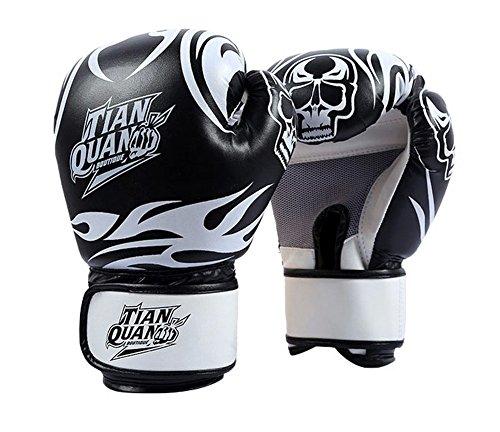 Boxen - Kickboxhandschuh volle Finger-Handschuhe -MMA 2 ---- Schwarz